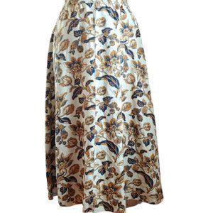 Cambridge Dry Goods Floral Linen Blend Skirt Vintage XL